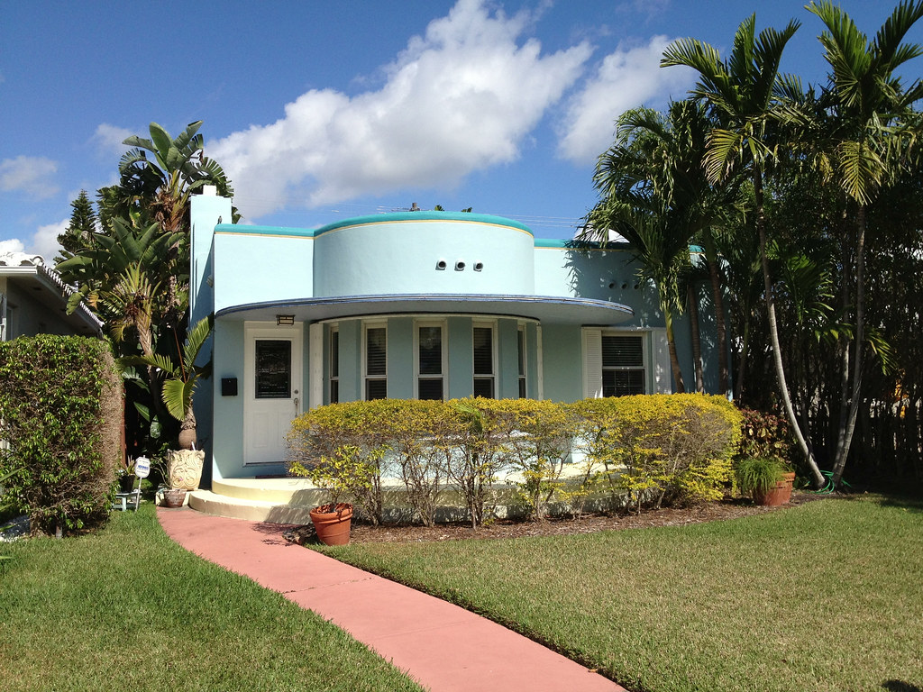 Art Deco Homes Art Deco House Hollywood Florida Phillip Pessar Flickr