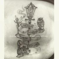 #lamppost #Disney #tinkerbell #owl #chesirecat #tattoo #wo ...