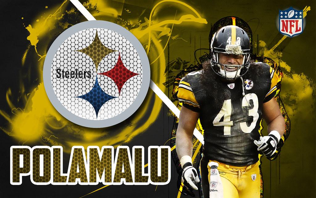 Pittsburgh Steelers Iphone Wallpaper Troy Polamalu Wallpaper Www Pixshark Com Images