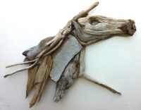 "Driftwood Art ""The Running Horse"" 