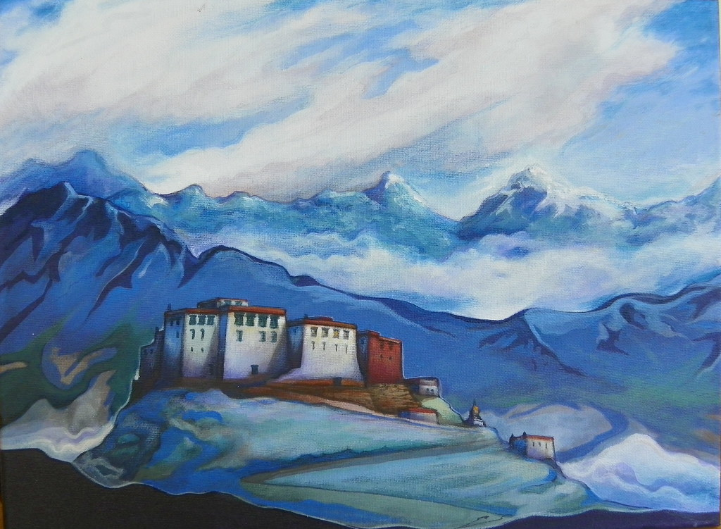 A Wallpaper 3d A Painting After The Style Of Nicholas Roerich The