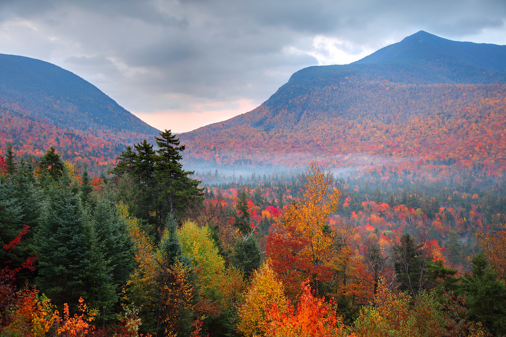 Fall Colors Wallpaper New England Autumn In The White Mountains Autumn In The White