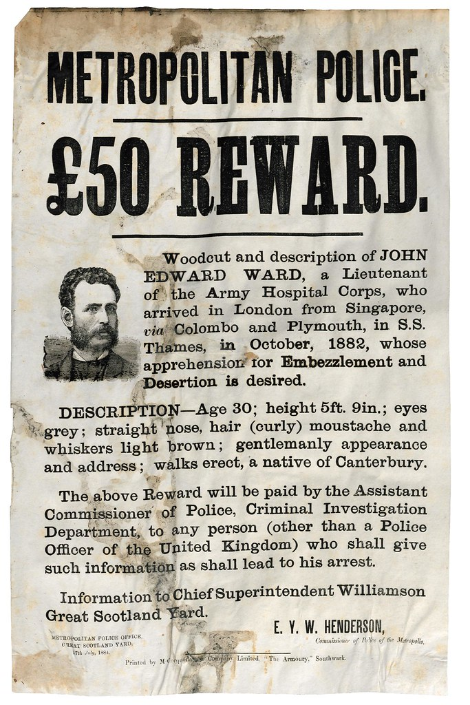 Wanted!! Thieves, Forgers and Murderers of the Victorian Age Flickr - criminal wanted poster