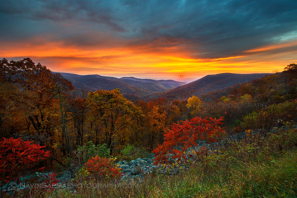 Fall Harvest Desktop Wallpaper Autumn Sunrise At Shenandoah National Park Fall Foliage