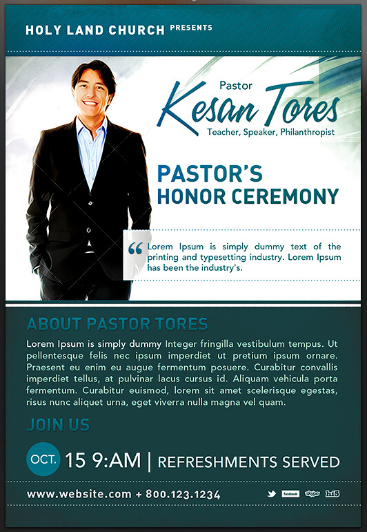 PASTOR-HONOR-CHURCH- FLYER--template-PREVIEW View more abo\u2026 Flickr