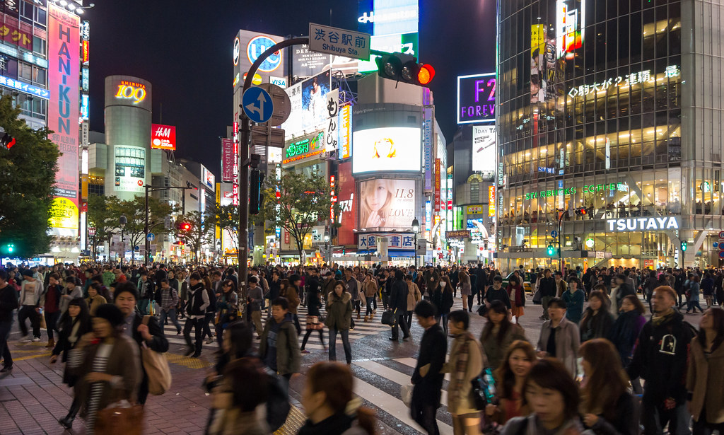 World Map 3d Wallpaper Shibuya Crossing At Night Trevor Dykstra Flickr