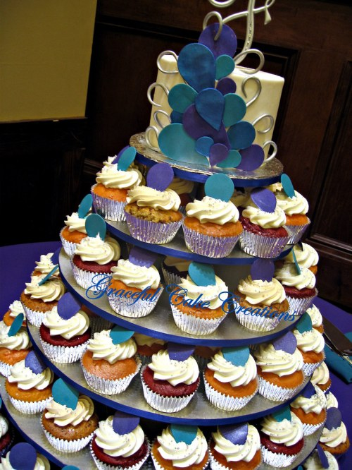 Medium Of Cupcake Wedding Cake