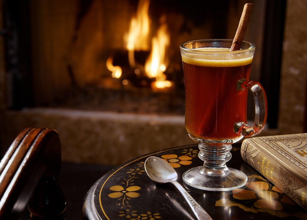 Fireplace 3d Wallpaper 339 365 Hot Buttered Rum While It Was Actually