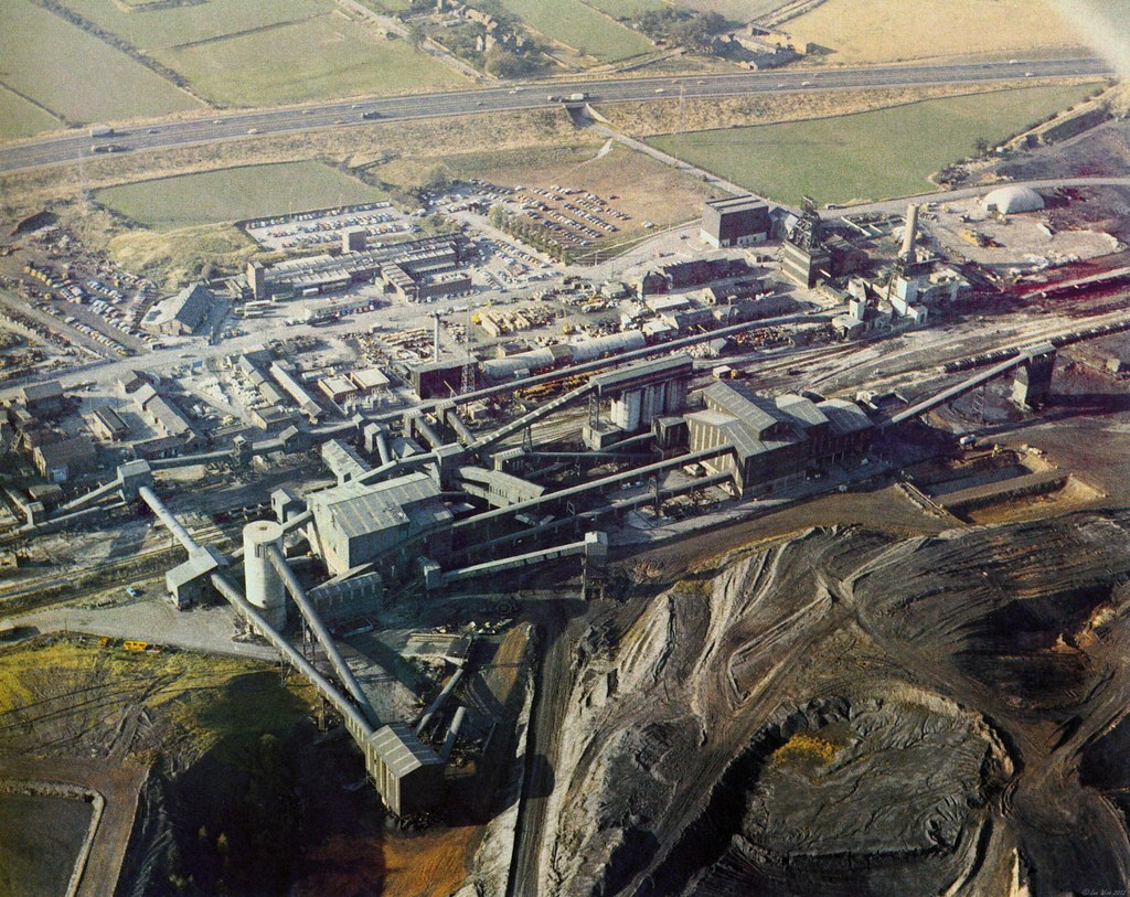 Filter Photoshop Markham Colliery Aerial Photograph | An Aerial Photograph