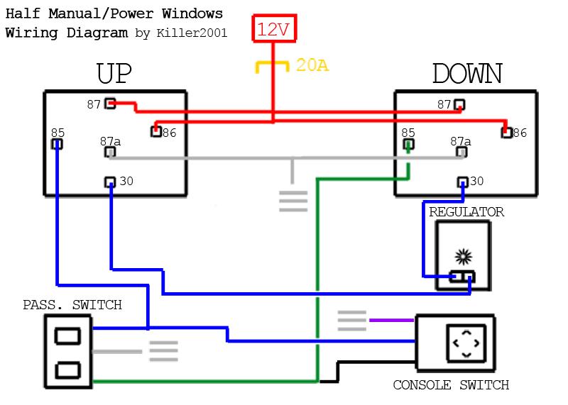 Wiring Diagram Of Power Window Wiring Schematic Diagram