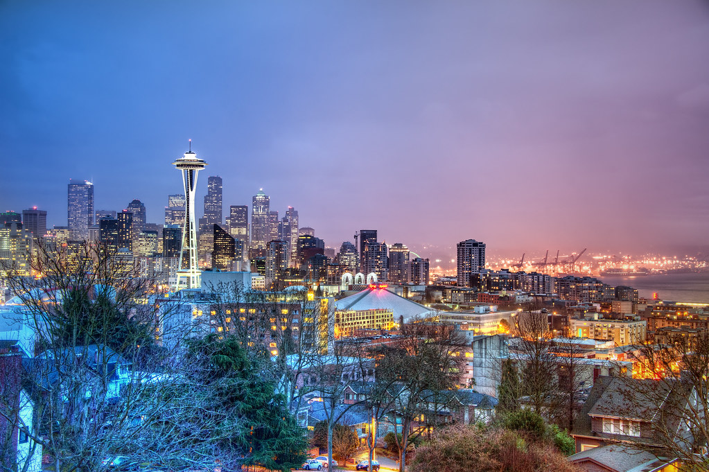 Seattle Washington In Fall City Night Wallpaper Seattle Skyline This Is A Shot Of The Seattle Skyline