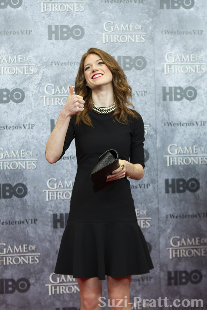 Black And Red Wallpaper Rose Leslie At Hbo S Quot Game Of Thrones Quot Season 3 Seattle Pr