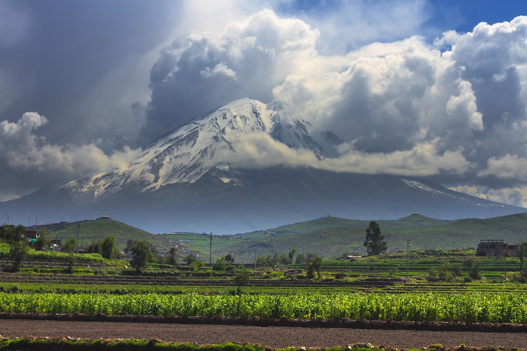 3d Picture Wallpaper Arequipa Beauty Campi 241 A Volcan Misti Desde La Campi 241 A