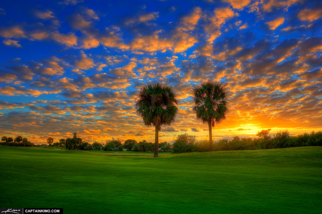 Desktop Wallpaper Fall Scenes Golf Course Sunset At North Palm Beach Over Palm Tree Flickr