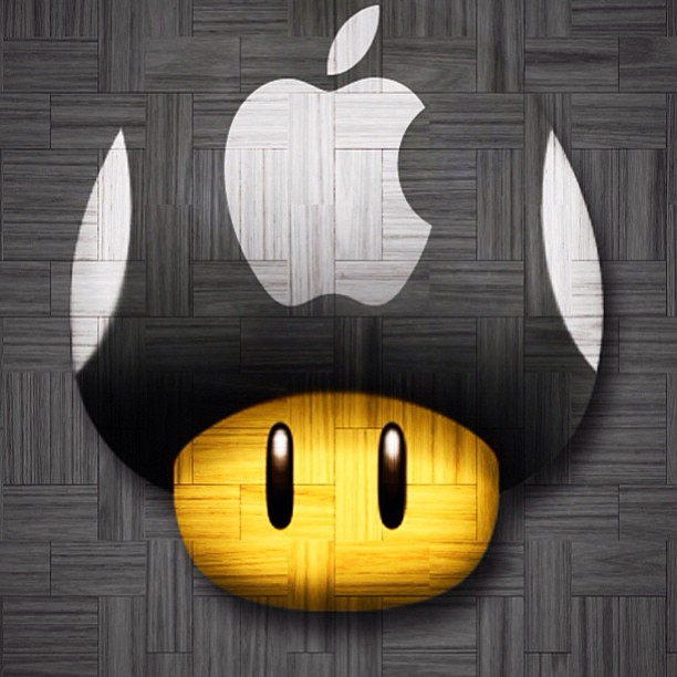 Super Mario Wallpaper Iphone 5 Wood Toad Iphone 5 Wallpaper With The Apple Logo Toad