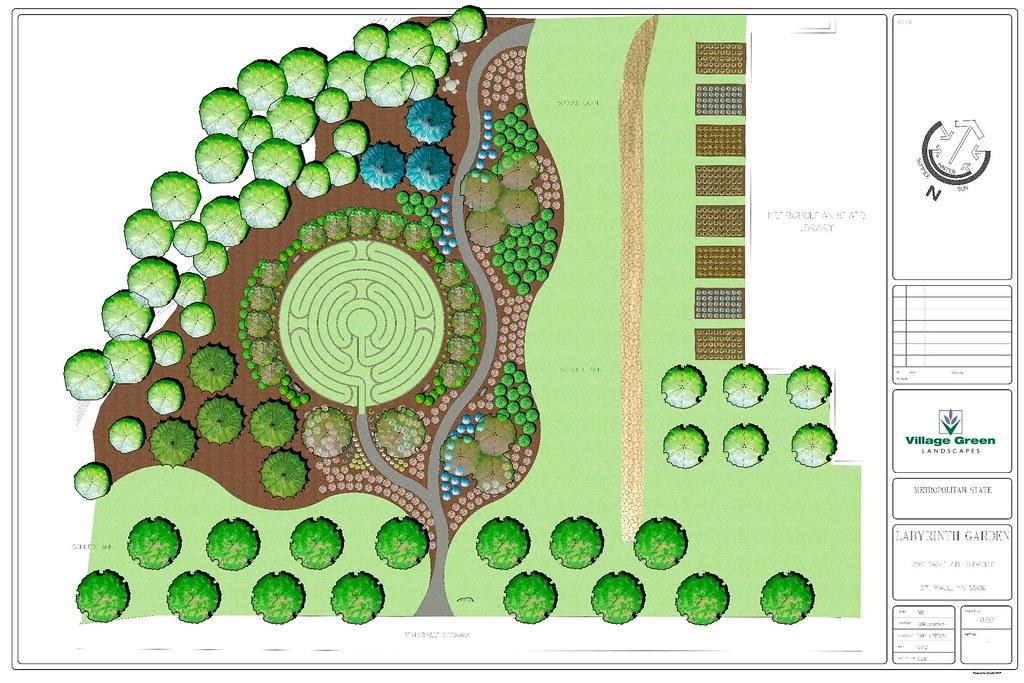 David Barton Community Labyrinth and Reflective Garden Desu2026 Flickr - labyrinth garden design