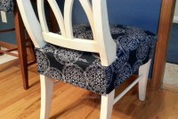 Dining/Kitchen Chair Seat Cover | Back view, finished ...