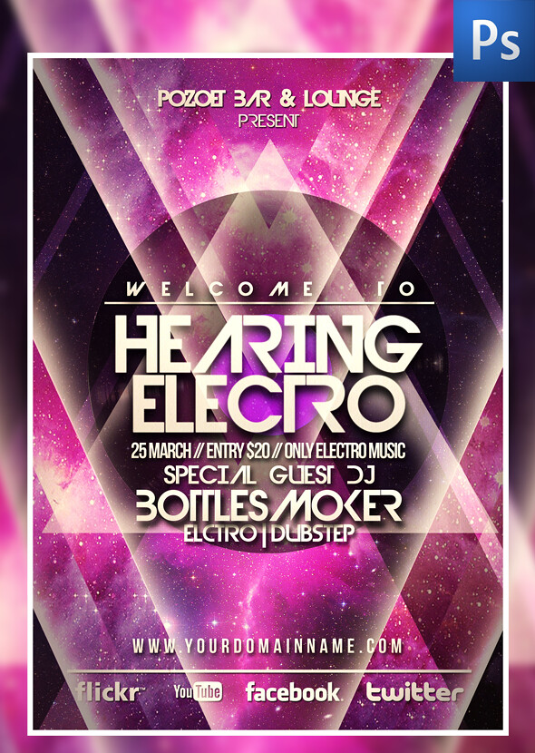 Hearing Electro Flyer Template Download Link  graphicriveu2026 Flickr - electro flyer