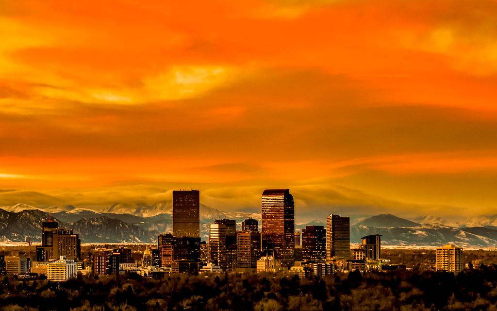 Big 3d Wallpapers For Desktop Orange Denver Sunset I Had A School In Denver Contact Me