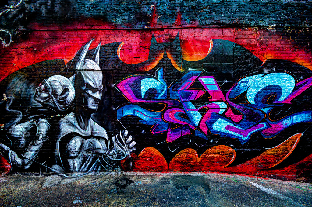 Free Wallpaper 3d Hd Batman And Catwoman At 5pointz Graffiti Art Center Long I