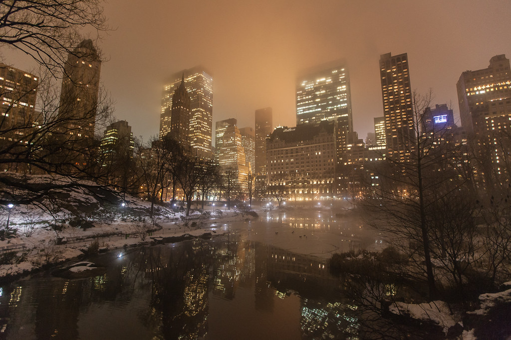 Weekend Wallpaper Hd New York City From Central Park On A Cold Foggy Night