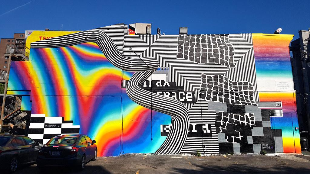 3d Wall Art Wallpaper Felipe Pantone Mural Festival Montreal Mural By