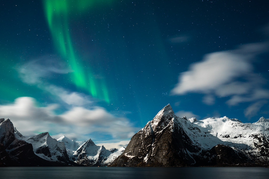 3d Free Wallpaper And Screensavers Northern Lights Over Reine Norway Within 20 Minutes Of