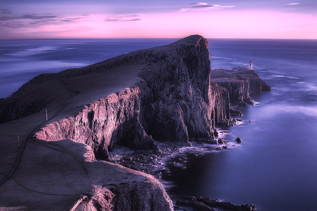 Hd Lavender Wallpaper Rubha Na H Eist Neist Point The Isle Of Skye Scotland
