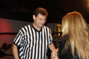 referee in wrestling match in Toronto with Raymi - Hogtown Wrestling