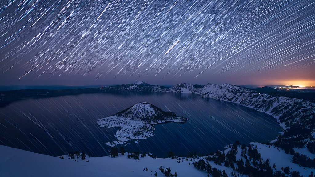Earth At Night 3d Live Wallpaper The Watchman Crater Lake National Park Oregon You Can