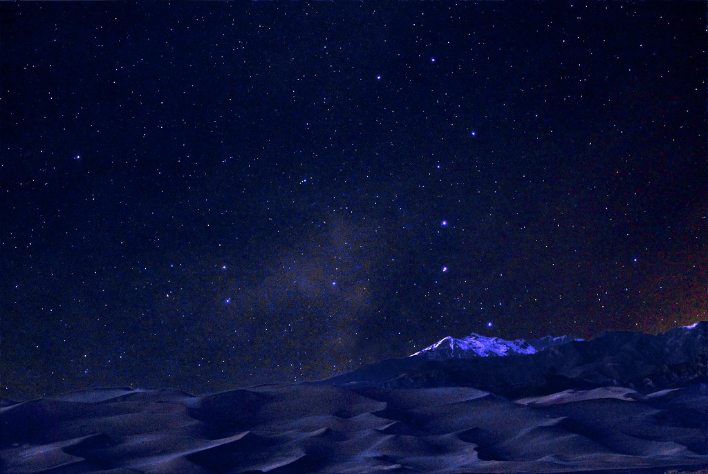 Patrick Star 3d Wallpaper Night Sky Above Dunes And Cleveland Peak Nps Patrick
