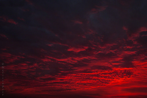 3d Wallpaper Blue Red Red Sky At Night A Wash Of Intense Color In A January