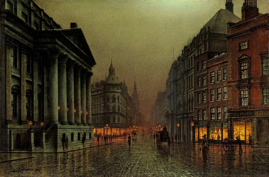 Rain Wallpaper Hd 3d Louis Grimshaw Mansion House London 1894 The Most