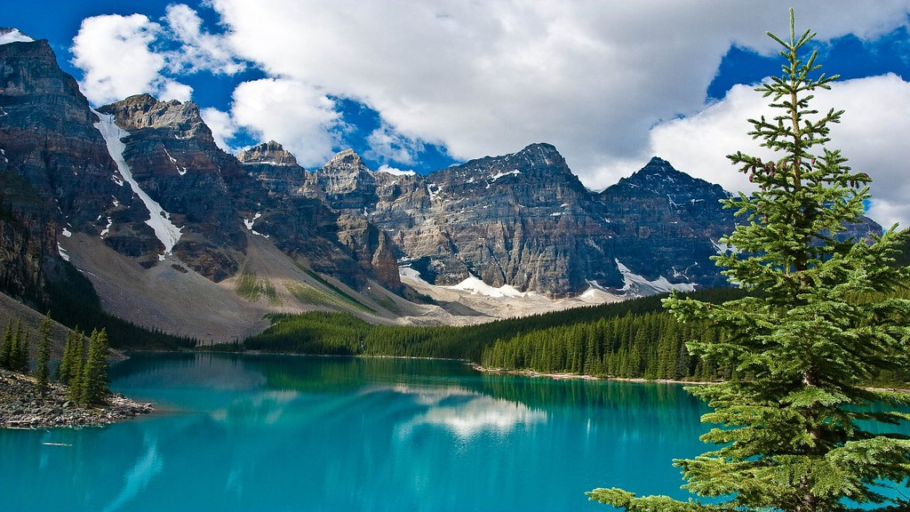3d Wallpaper Hd 1920x1080 Moraine Lake Banff National Park Alberta Canada 2560x