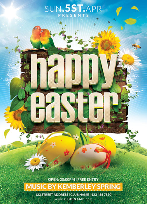 Happy Easter Flyer Template You can DOWNLOAD the PSD file \u2026 Flickr - easter flyer template