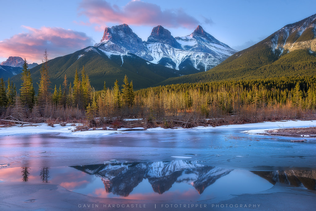Beautiful Fall Location Wallpapers The Three Sisters Canmore Alberta Fancy Shooting With