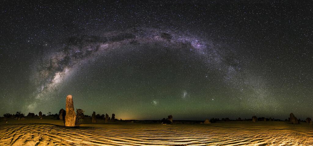 3d Wallpaper Australia Milky Way Panorama The Pinnacles Desert Western Austral