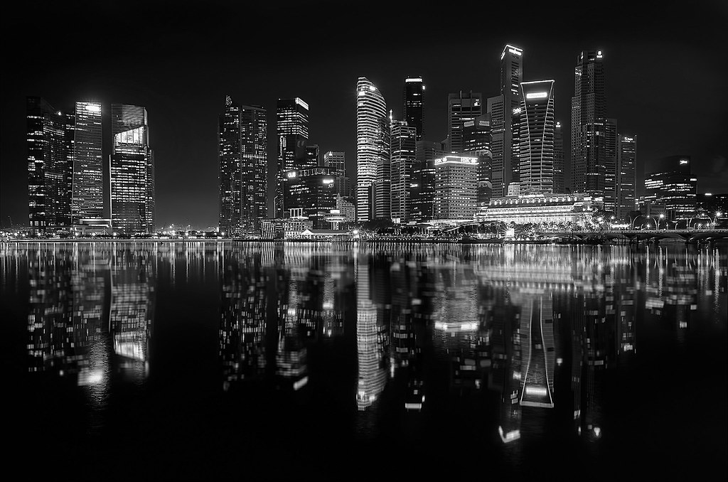 Good Evening Hd Wallpaper 3d City Night Lights Monochrome Version Of My Favorite
