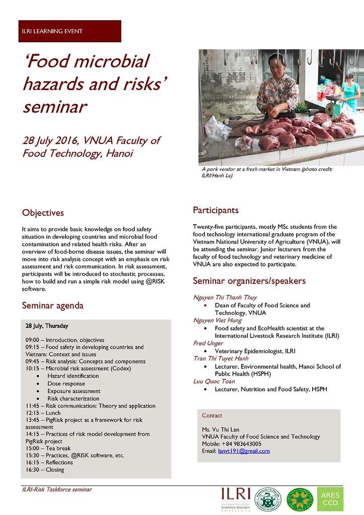 Food safety seminar flyer ILRI learning event \u0027Food micro\u2026 Flickr - seminar flyer