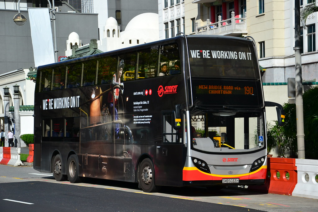 SMRT Buses SMB 5033H (ADL Enviro 500) carrying one of SMR\u2026 Flickr - House Advertisements