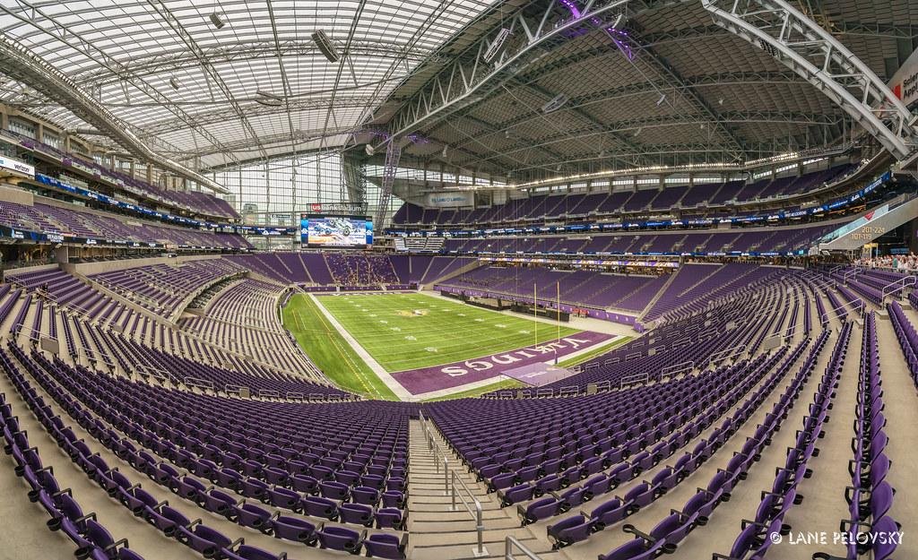 3d Football Stadium Wallpaper Us Bank Stadium South End Zone Openthegates Taken At
