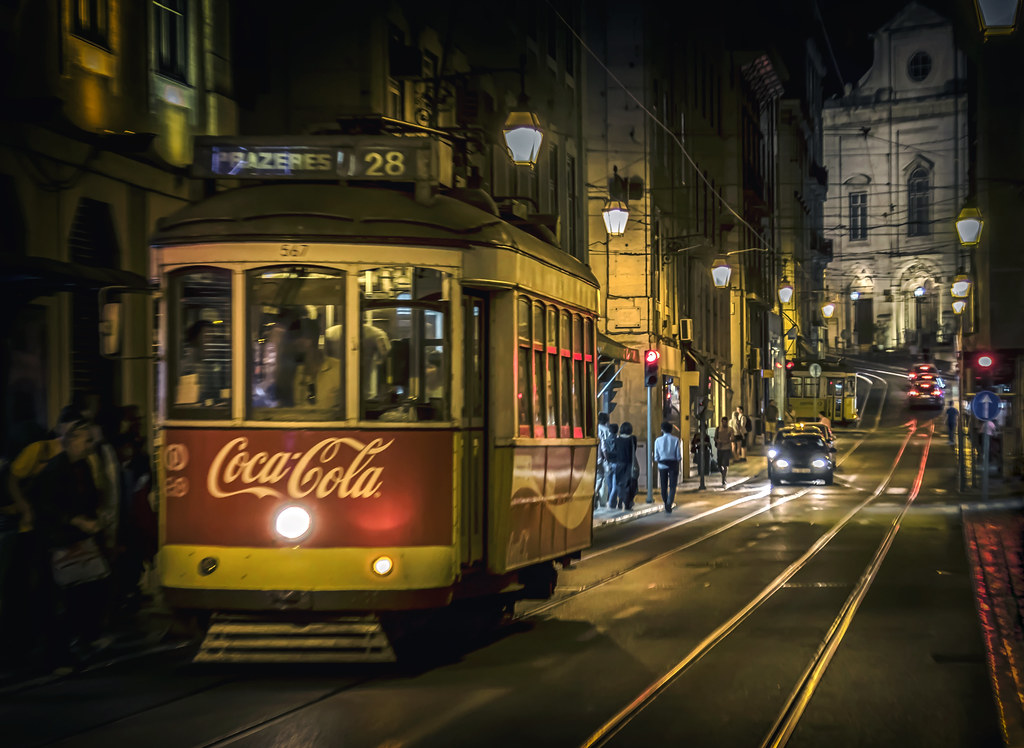 Wallpaper Coca Cola 3d Tram 28 Night Lisbon Portugal Inge Vautrin Flickr