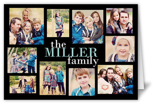 Online Fotocollage Modern Family Collage 5x7 Greeting Card | Thank You Cards