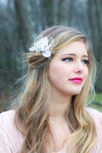 Bridal Headpiece Bridal Feather Hair Clip Feather ...