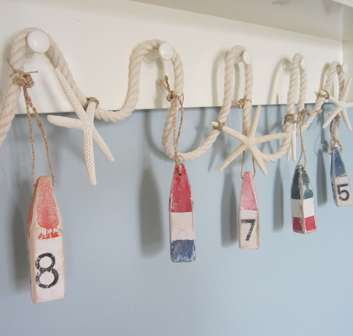 Beach Home Decor Accessories Nautical Decor Buoy And Starfish Garland Beach Decor