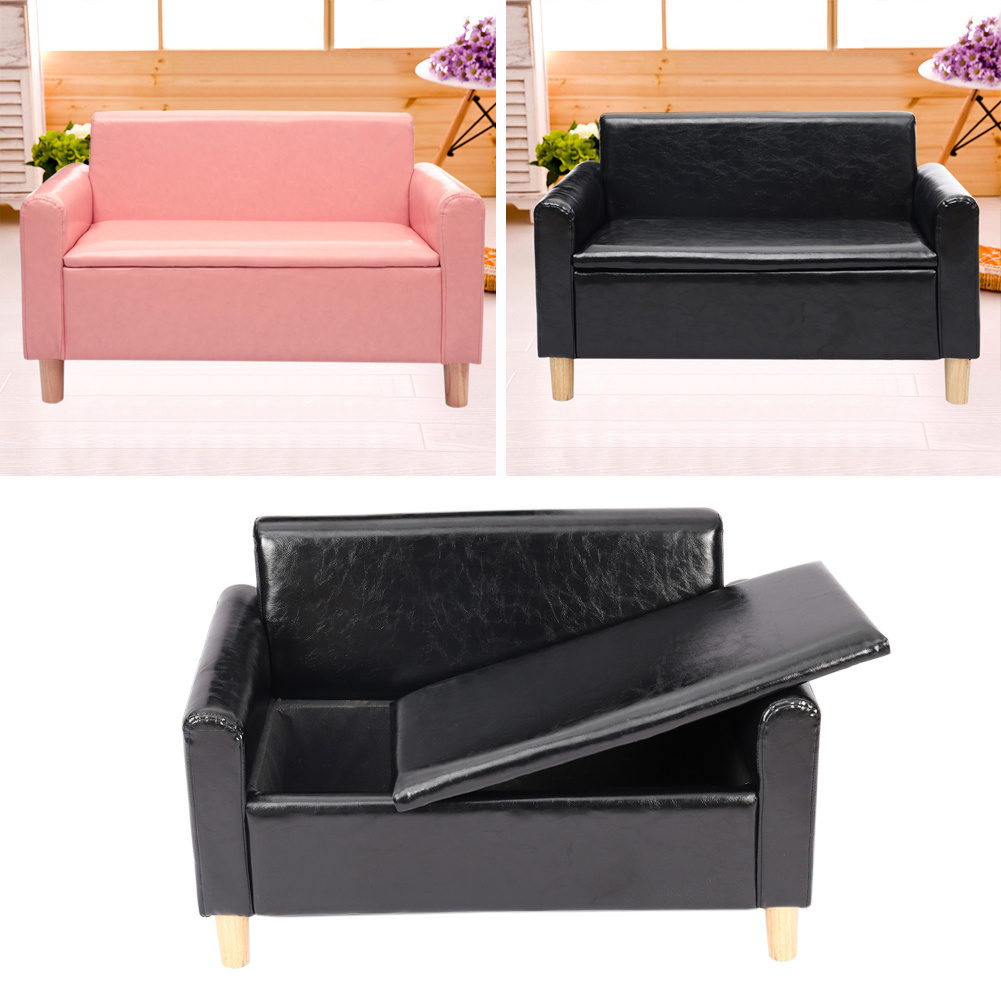 Storage Space Kids 2 Seater Sofa Children Lounger Couch Playroom Armchair 80cm Ebay
