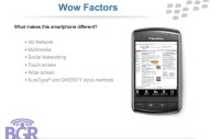 BlackBerry Storm PowerPoint - Image 12 of 17