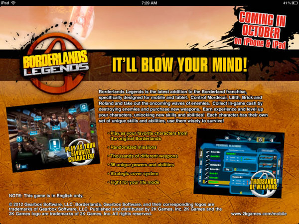 Borderlands Legends Leak iOS