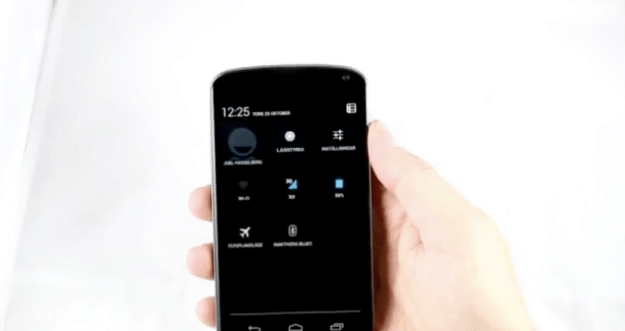 Nexus 4 Hands-On Video