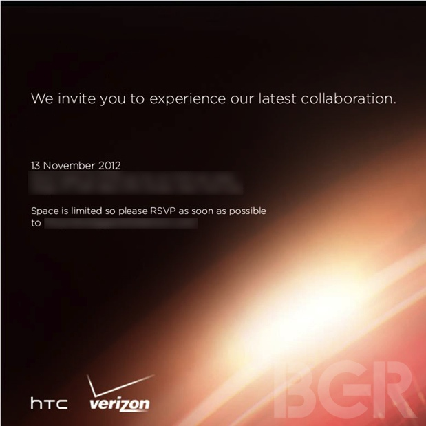 HTC Verizon November 13th Event